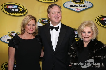 Lesa France Kennedy, Brian France and Betty Jane France