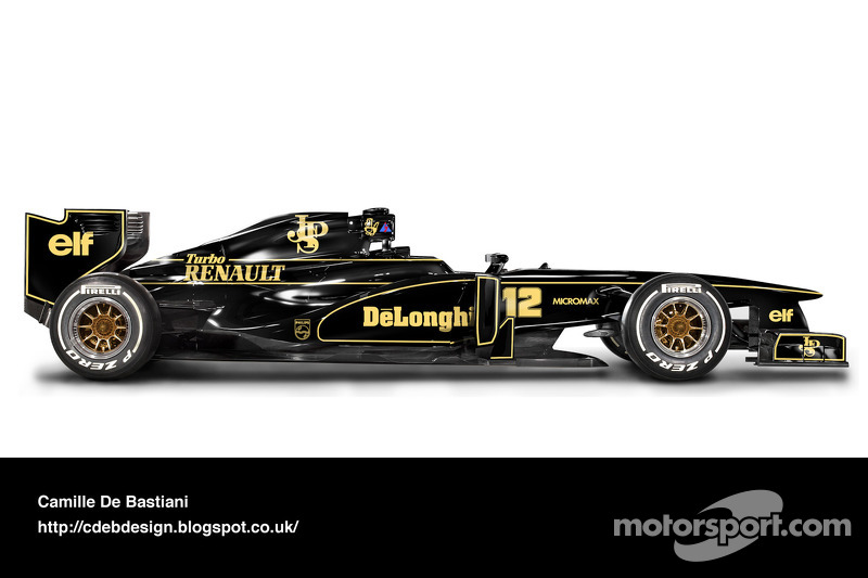 Formel-1-Auto im Retrodesign: Lotus 1986 V2