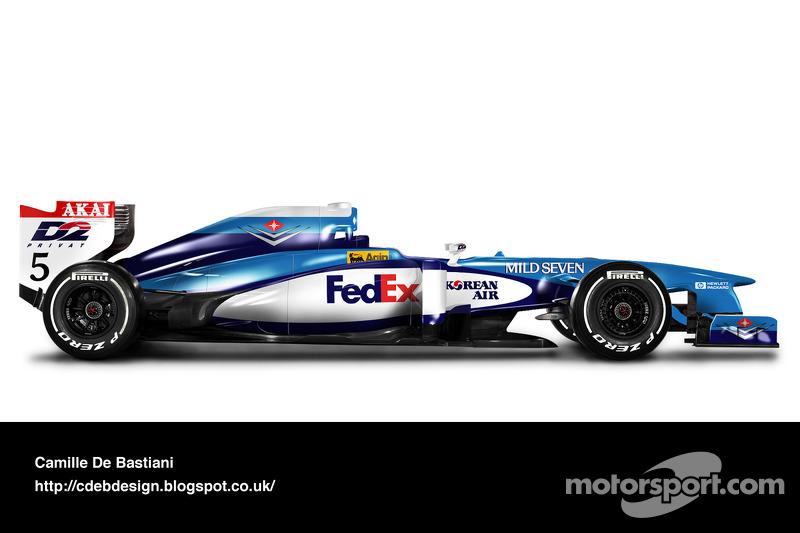 Formel-1-Auto im Retrodesign: Benetton 1998