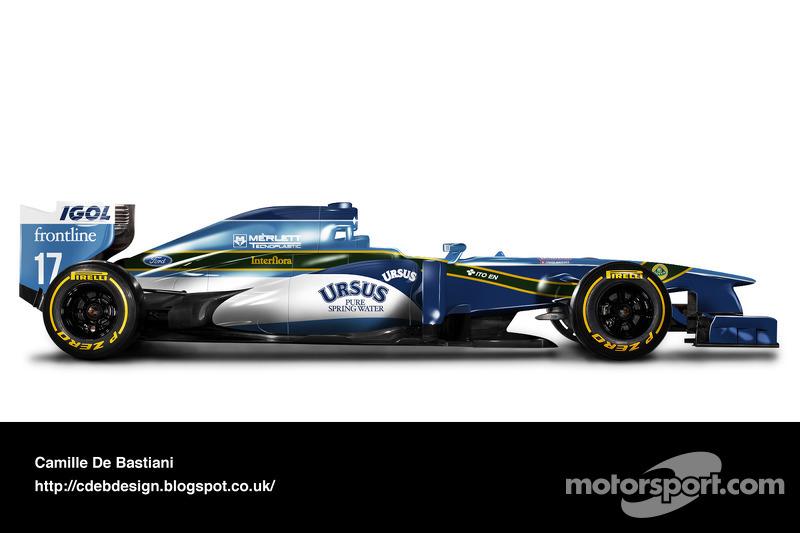 Formel-1-Auto im Retrodesign: Pacific 1995