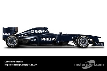 Retro F1 car - Williams 2009 (pre-season livery)
