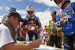 Marc Coma at passport control into Bolivia
