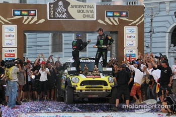 Car category winners #304 Mini: Nani Roma, Michel Perin