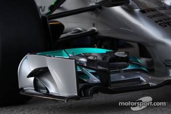 The unveiling of the new Mercedes AMG F1 W05 - front wing detail