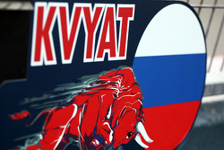 Pit board for Daniil Kvyat, Scuderia Toro Rosso