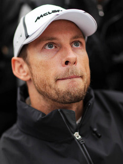 Jenson Button, McLaren with the media. Formula One Testing, Day Two, Wednesday