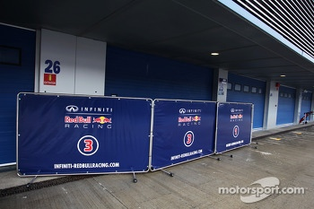 Red Bull Racing have garage shutters down as testing for them ends early
