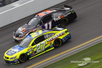 Paul Menard and Denny Hamlin