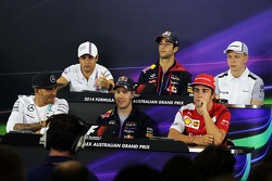 The FIA Press Conference, Williams; Daniel Ricciardo, Red Bull Racing; Kevin Magnussen, McLaren; Lewis Hamilton, Mercedes AMG F1; Sebastian Vettel, Red Bull Racing; Fernando Alonso, Ferrari