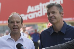 Australian Grand Prix Corporation CEO Andrew Westacott(L) V8 Supercars CEO James Warburton