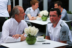 Eric Boullier, McLaren Racing Director (Right)