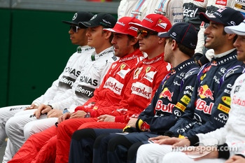 The drivers start of season photograph
