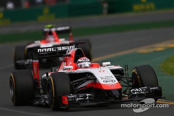 Jules Bianchi, Marussia F1 Team MR03 leads Max Chilton, Marussia F1 Team MR03