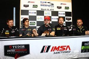 Board of directors for the Motorsport Safety Foundation: Jim Norman, Eduardo Cisneros, Henrique Cisneros and Beaux Barfield