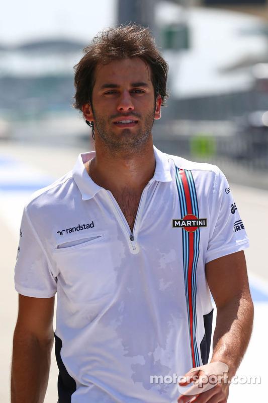 Felipe Nasr, Williams Test and Reserve Driver walks the ... Felipe Nasr