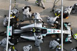 Nico Rosberg, Mercedes AMG F1 W05 pit stop