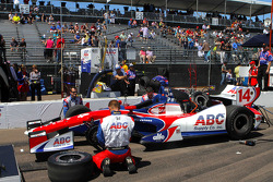 The car of Takuma Sato, A.J. Foyt Enterprises Honda