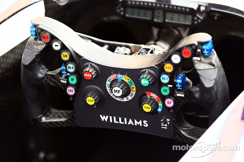 Williams FW36 steering wheel