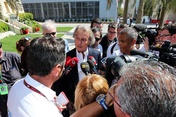 Luca di Montezemolo, Ferrari President with the media