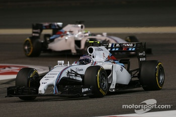 Valtteri Bottas, Williams FW36 leads team mate Felipe Massa, Williams FW36