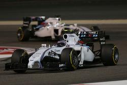 Valtteri Bottas, Williams FW36 leads team mate Felipe Massa, Williams FW36