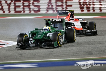 Marcus Ericsson, Caterham F1 Team and Max Chilton, Marussia F1 Team  06