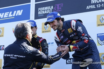 Podium: race winner Carlos Sainz Jr.