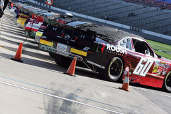 NASCAR Nationwide cars sit impounded on pit lane at Texas Motor Speedway