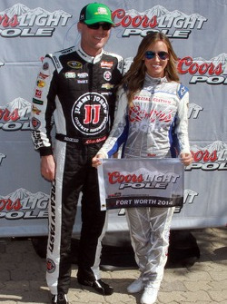 Kevin Harvick accepts the Pole Award