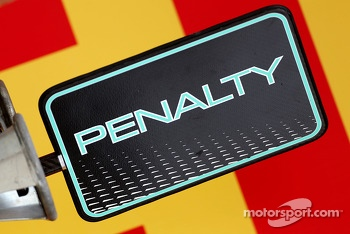 Mercedes GP, Penalty