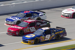 Trevor Bayne, Chris Buescher and Chase Elliott