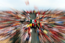Mexican flag in the grandstand