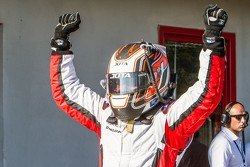 ELMS: Race winner Simon Dolan celebrates