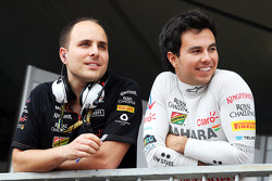 (L to R): Gianpiero Lambiase, Sahara Force India F1 Engineer with Sergio Perez, Sahara Force India F1