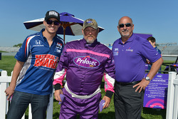 Graham Rahal, Bobby Rahal and Larry the Cable Guy