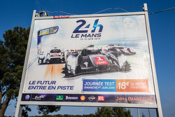 Signage for the 2014 24 Hours of Le Mans
