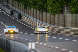 #99 Aston Martin Racing Aston Martin Vantage V8: Alex MacDowall, Darryl O'Young, Fernando Rees, #67 IMSA Performance Matmut Porsche 911 GT3 RSR (997): Erik Marris, Jean-Marc Merlin, Eric Helary