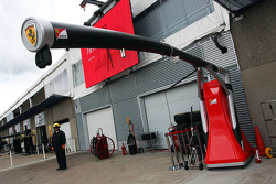Ferrari pit stop equipment