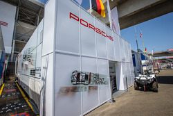 Porsche Team Manthey paddock area