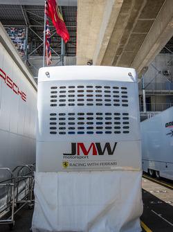 JMW Motorsport paddock area