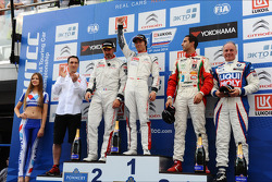 WTCC: Podium: winner Ma Qing Hua, second place Yvan Muller, third place Mehdi Bennani