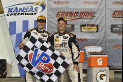 Race winners Jon Bennett, Colin Braun