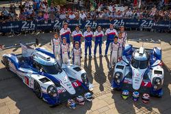 #7 Toyota Racing Toyota TS 040 - Hybrid: Alexander Wurz, Stéphane Sarrazin, Kazuki Nakajima; #8 Toyota Racing Toyota TS 040 - Hybrid: Anthony Davidson, Nicolas Lapierre, Sébastien Buemi
