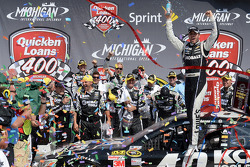 NASCAR-CUP: Race winner Jimmie Johnson, Hendrick Motorsports Chevrolet