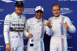 Pole position for Felipe Massa, Williams FW36, 2nd for Valtteri Bottas, Williams FW36 and 3rd place Nico Rosberg, Mercedes AMG F1 W05