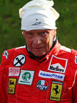 Niki Lauda, Mercedes Non-Executive Chairman is reunited with his Ferrari 312T2