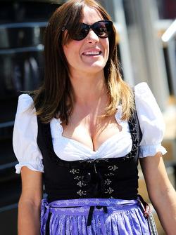 Natalie Pinkham, Sky Sports Presenter in traditional Austrian costume