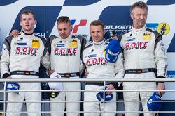 Podium: third place Maro Engel, Nico Bastian, Christian Hohenadel, Michael Zehe
