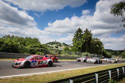 Start: #502 Audi Race Experience Audi R8 LMS ultra: Felix Baumgartner, Marco Werner, Frank Biela, Pierre Kaffer