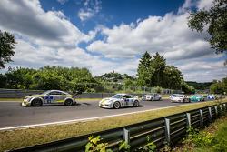 Start: #123 Scuderia Colonia e.V. Audi TT RS: Matthias Wasel, Thomas Wasel, Marcos Löhnert, Roman Löhnert and #161 Black Falcon Porsche Carrera: Manuel Metzger, Tim Scheerbarth